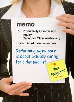 Productivity Commission fails frail, aged Australians